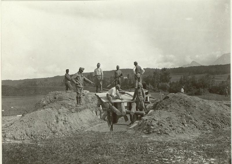 Artillerie Unterstand System MATJOK. Standort: Cellulosefabrik Villach.Aufgen.1.September 1915.