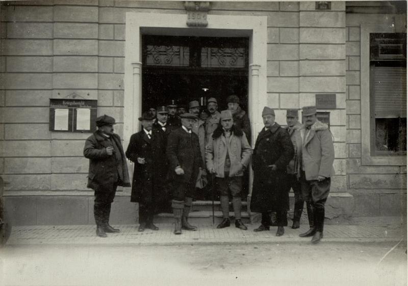 Abfahrt  des Eisenbahnministers Freiherr von Forster von Kötschach
