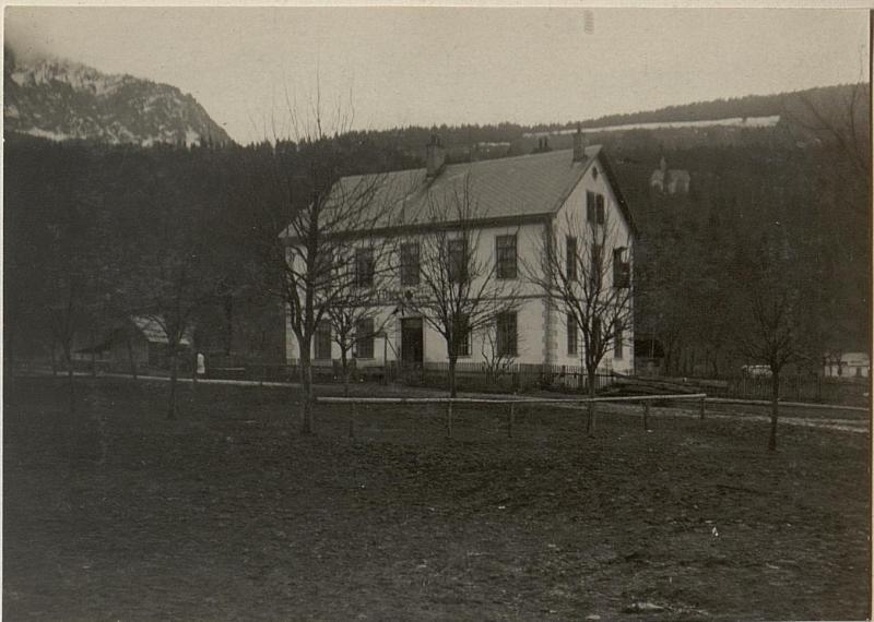 Brigade-Sanitätsanstalt Nr. 184 in Tröppolach. 49. ITD, Kanzleigebäude.