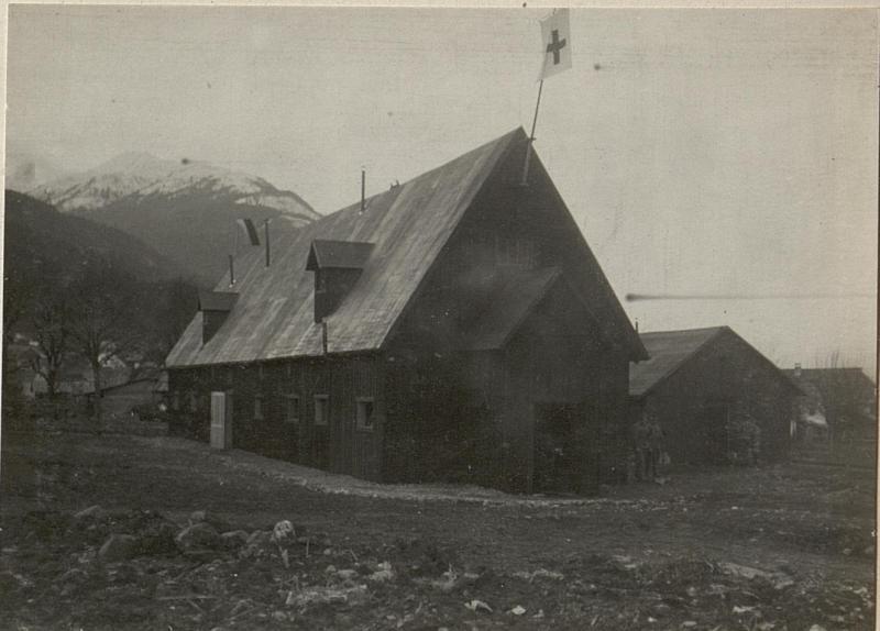 Brigade- Sanitätsanstalt Nr.184 in Tröppolach. 49. ITD., Außenansicht.