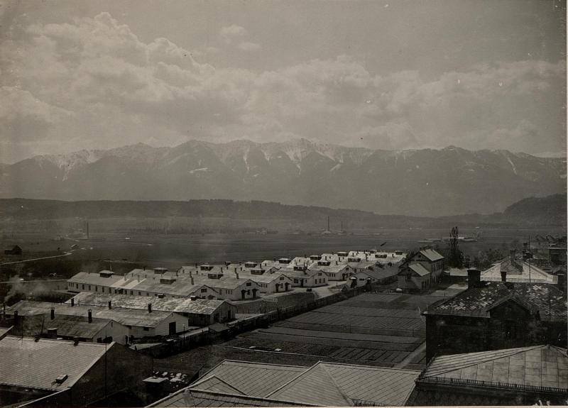 Gesamtansicht des K.u.K. Feldspitals 1/7,  aufgenommen am 2. Mai 1916
