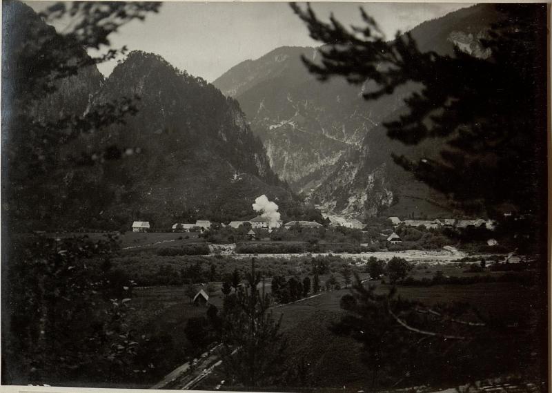 Beschiessung von MALBORGETH. Aufgenommen am 14.Juli 1916.