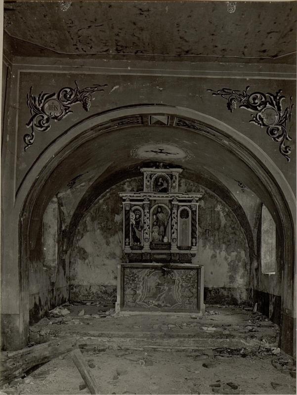 Altar der Kirche in KAL. Aufgenommen am 4. Juni 1916.
