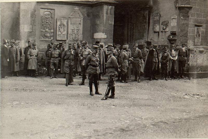 Defilierung der Stabskompagnie. Aufgen. am 18. August 1916.