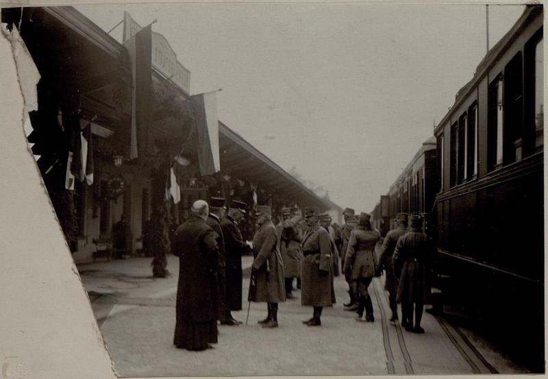 Ankunft Sr.k.k.Hoheit Erzh.Friedrich in Villach.