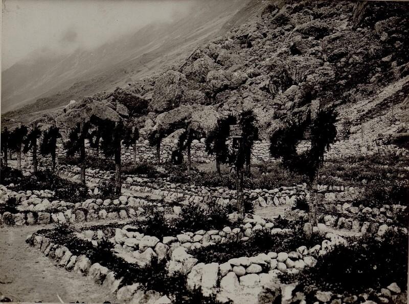 Allerseelen im Karstgebiet.Motiv aus dem Heldenfriedhof in Soca