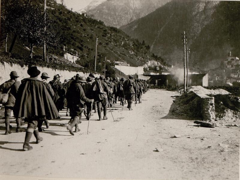 Gefangene Italiener bei Chiusaforte