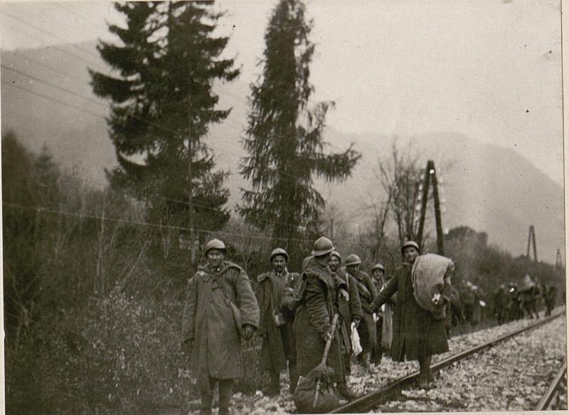 Gefangene Italiener im Fellatal.