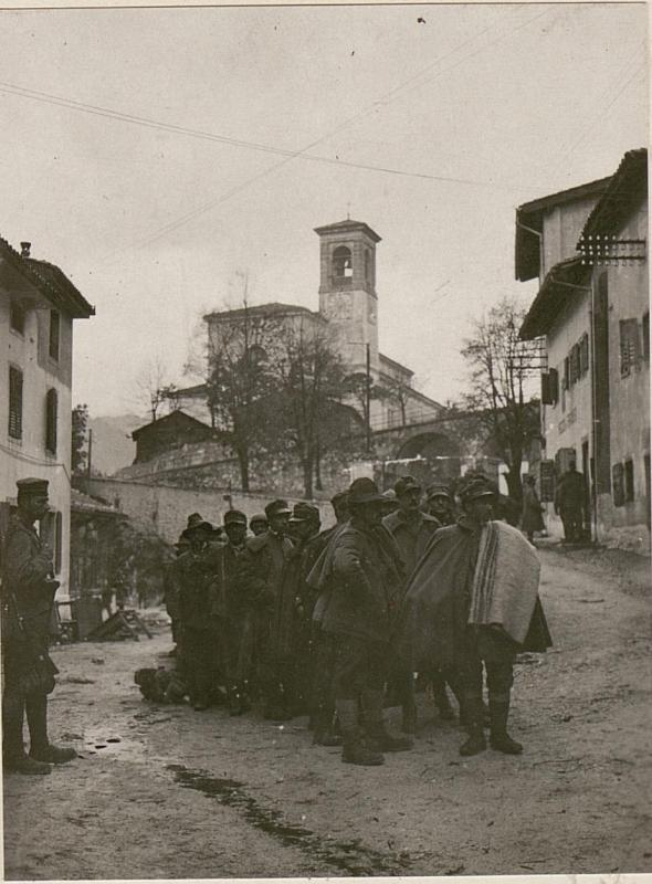 Gefangene Italiener in Chiusaforte