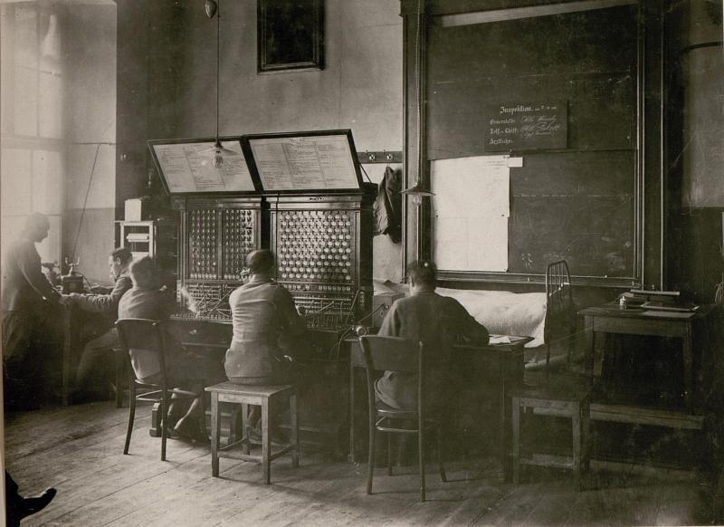 Telephon-Zentrale des 10.A.K.
