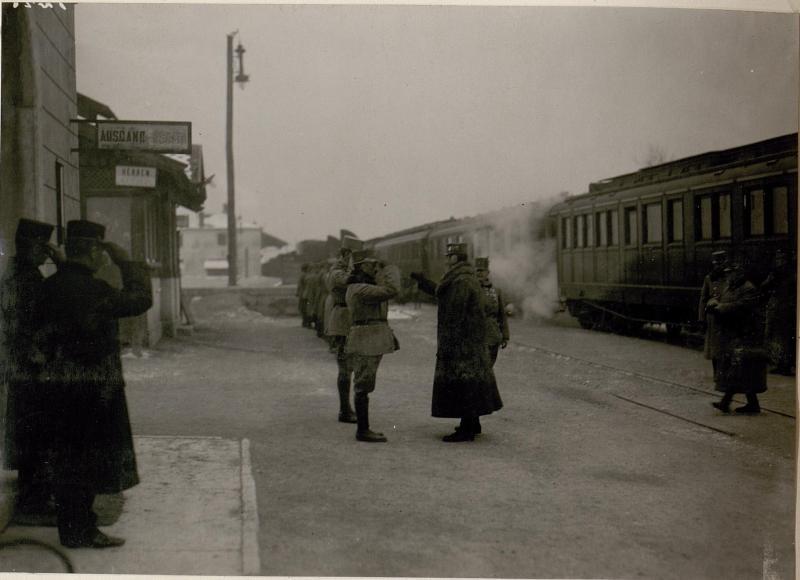 Ankunft von Kaiser Karl in San Michele