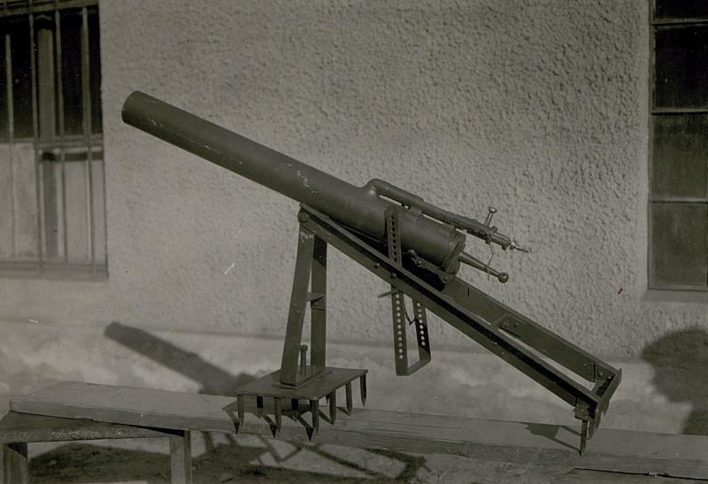 8.6mm  Italienischer Minenwerfer.