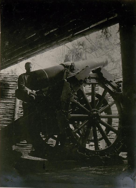 Erbeutete Geschütze bei Mincigos.
