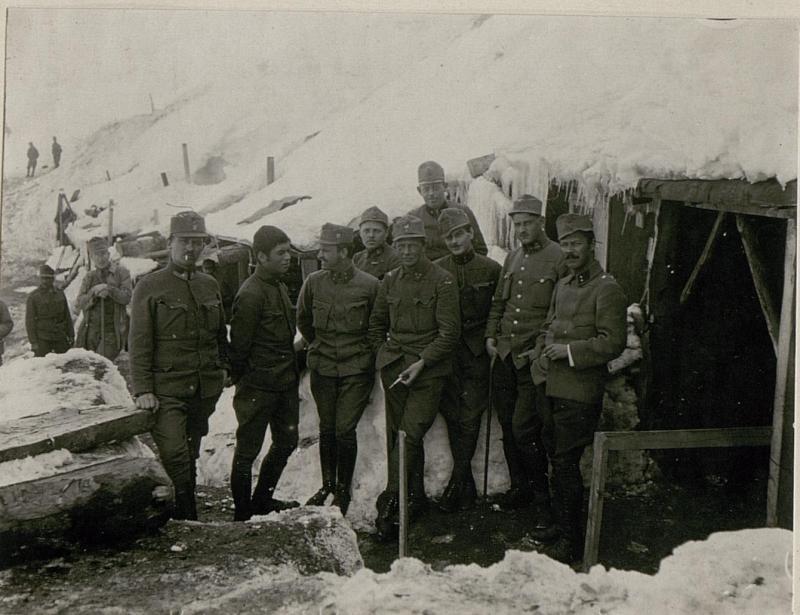 Bataillonskommando auf der Pasubio-Platte.