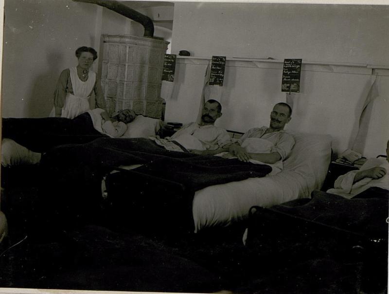 Feldspital 413.Krankenzimmer in Serrada.