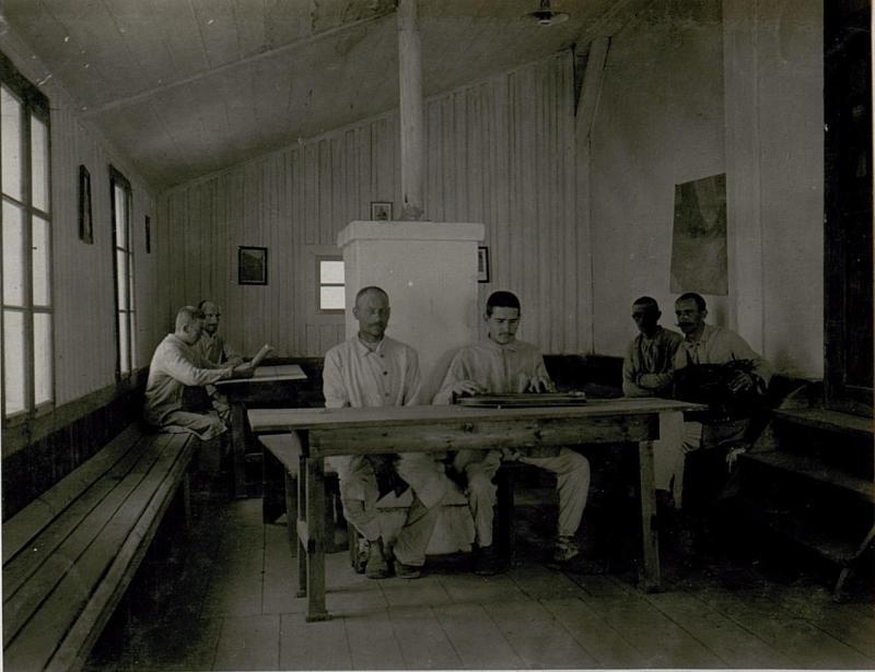 Feldspital 413.Lesezimmer in Serrada.