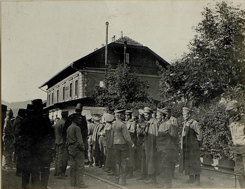 Russische Gefangene in Skole.