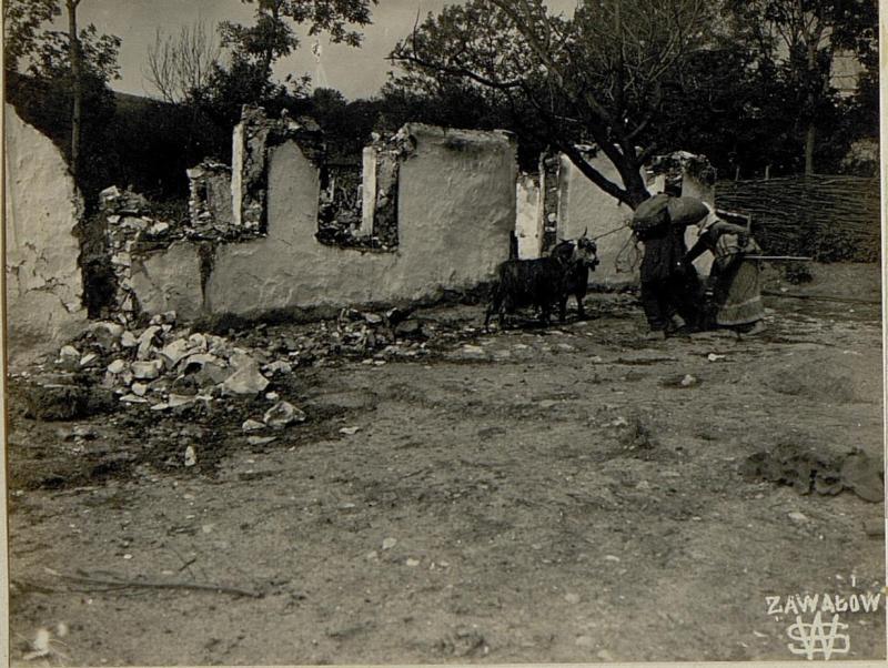 Brandruinen in Zawalow.