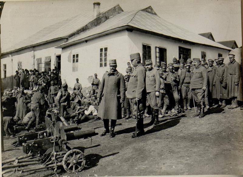 Eingebrachte russische Gefangene in Podhajce