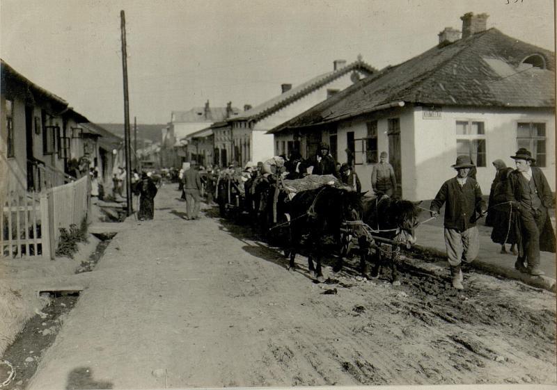 Straßenbild von Podhajce