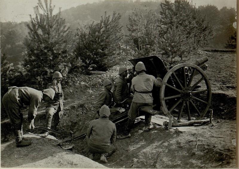 Türkische Artillerie bei Miesczegsow