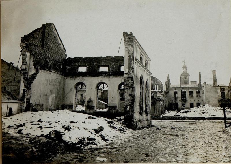 Brandruinen in Brzezany