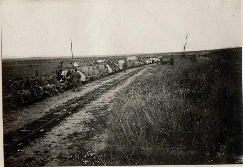 Ein Generatorzug der Feldbahn.
