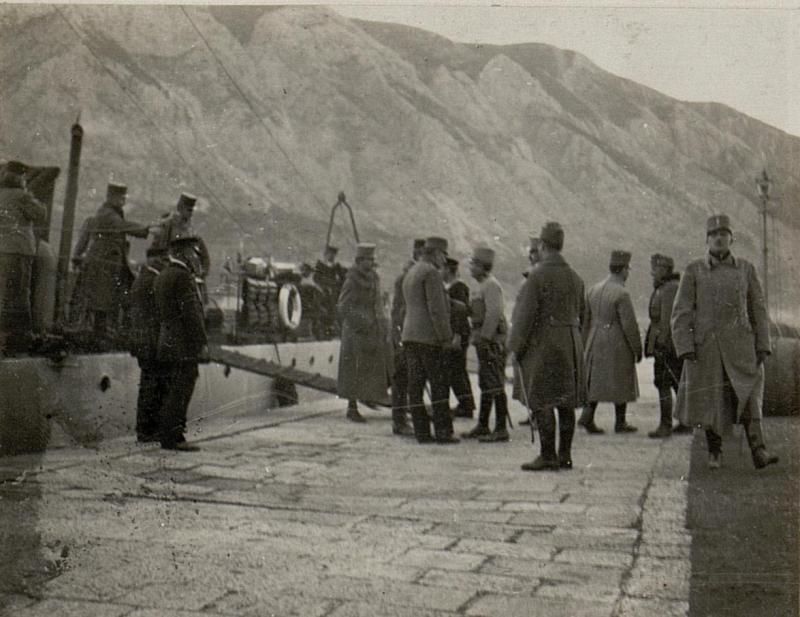 Ankunft des Generalstabes in Cattaro.