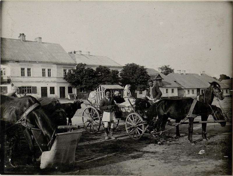 Flüchtlinge in Tarnogrod./ Russ.Polen/ Juli 1915.