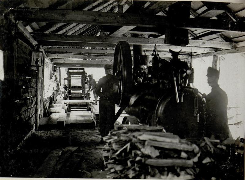 Ansicht des Dampfsägewerkes in Worotniewo von Innen. 29.I.1916.