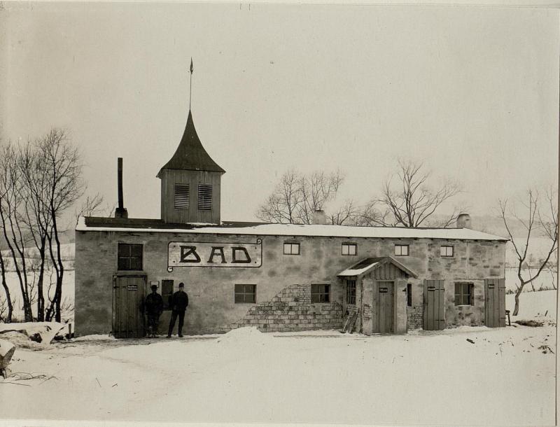 Badeanstalt der 19.Infanteriedivision in Rozgadov (Rozhadow), 26.1.1917