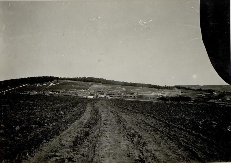 Blick auf das 9. Korpskommando in Dunajow
