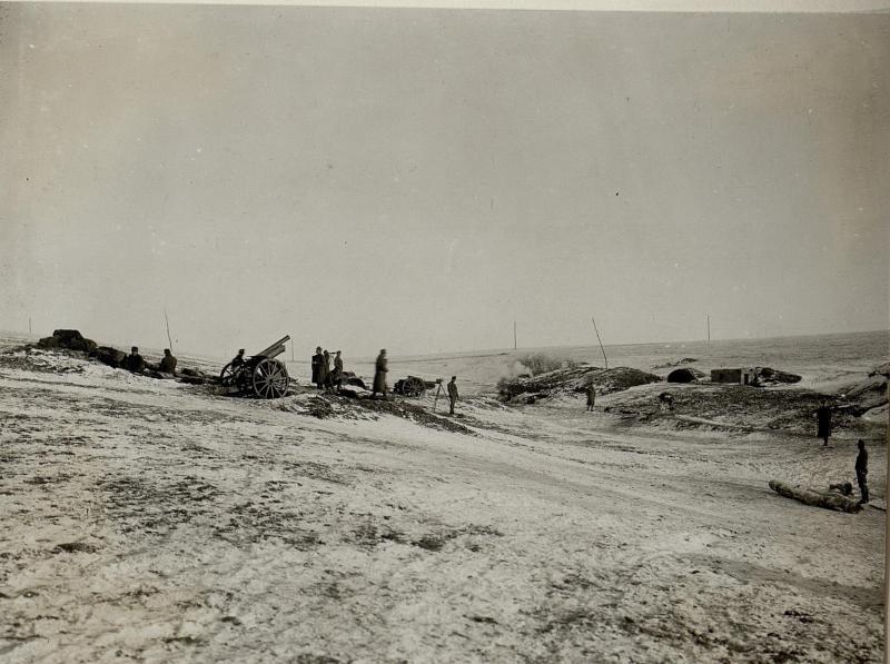 Abwehrbatterie 12 nordöstlich, Meierhof Hodow, am  11.1.1917