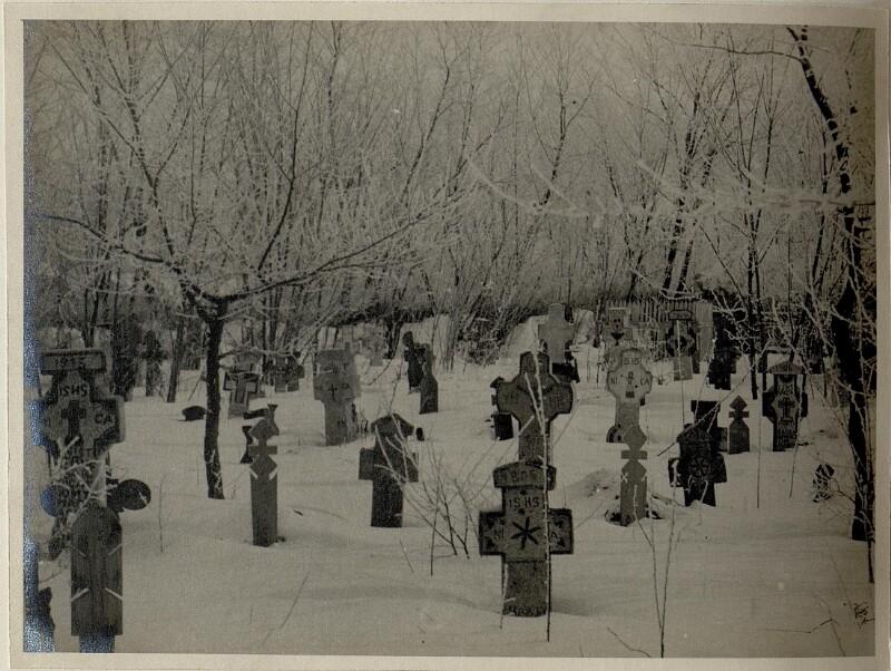 Auf dem Friedhof in Tabarasti (Rumänien), 6.2.1917