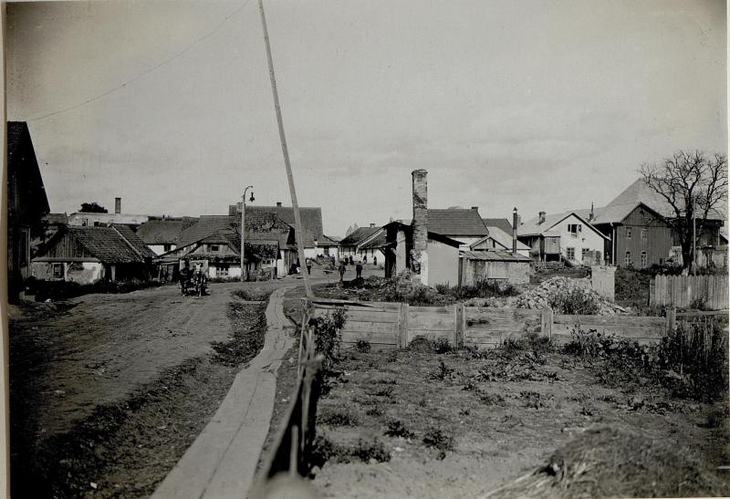 Brandruinen in Chodoriw, 29.9.1916
