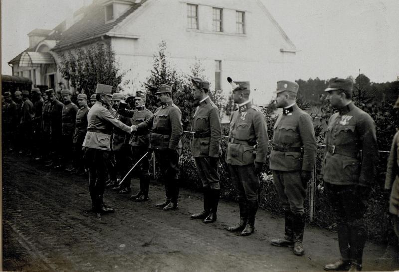 Abmeldung bei General Hermann Kövess von Kövesshaza, 8.10.1916