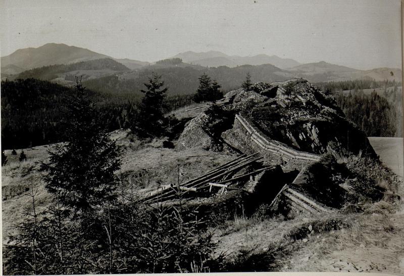 Der Borgopass an der Grenze zu Rumänien, 31.10.1916