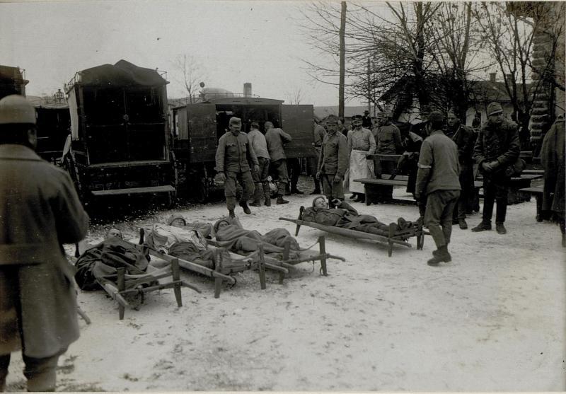 Ankunft Verwundeter in Besztercze, 31.10.1916