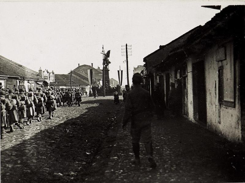 Einmarsch österreichischer Truppen in Krusevac.
