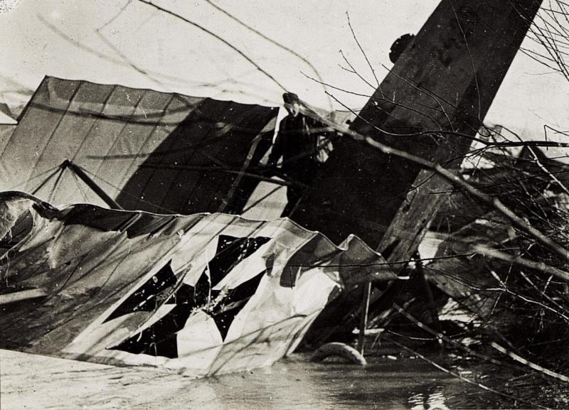 Abgestürztes Flugzeug.
