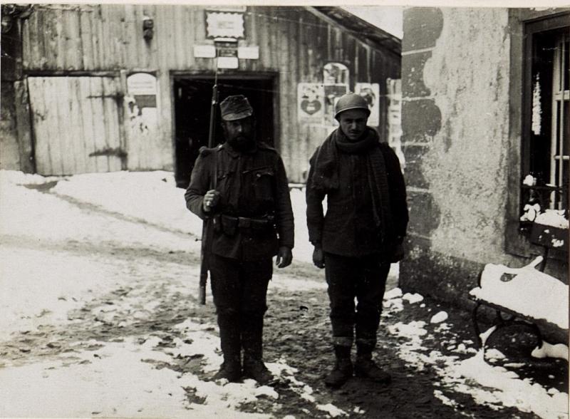 Corvara, italienische Gefangene.