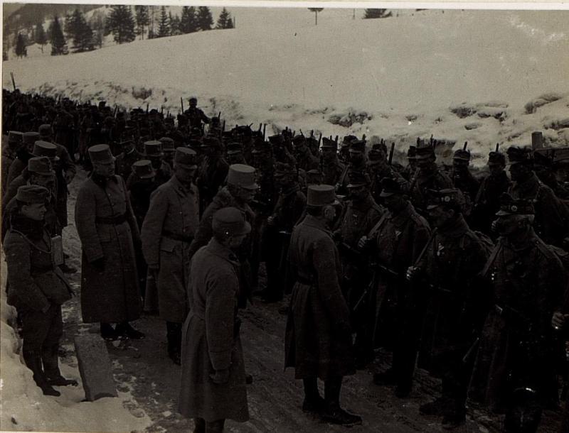 Ansprache an Mannschaften der Brigade Covin.