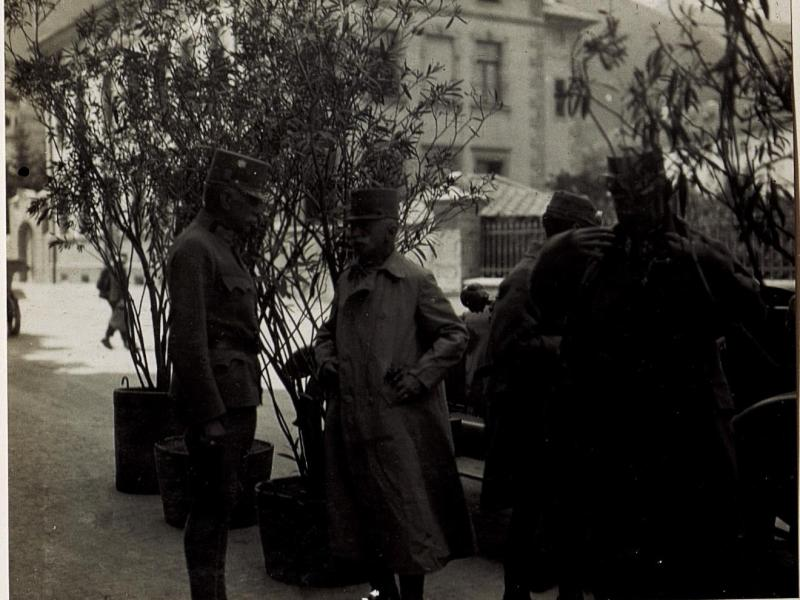 Ankunft Feldmarschall Freiherr von Conrad beim 20.Korps Kommando in Brixen.