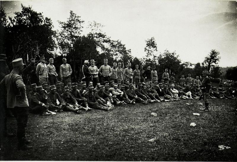 Erste italienische Gefangene in Konstanjevica (Küstenland).