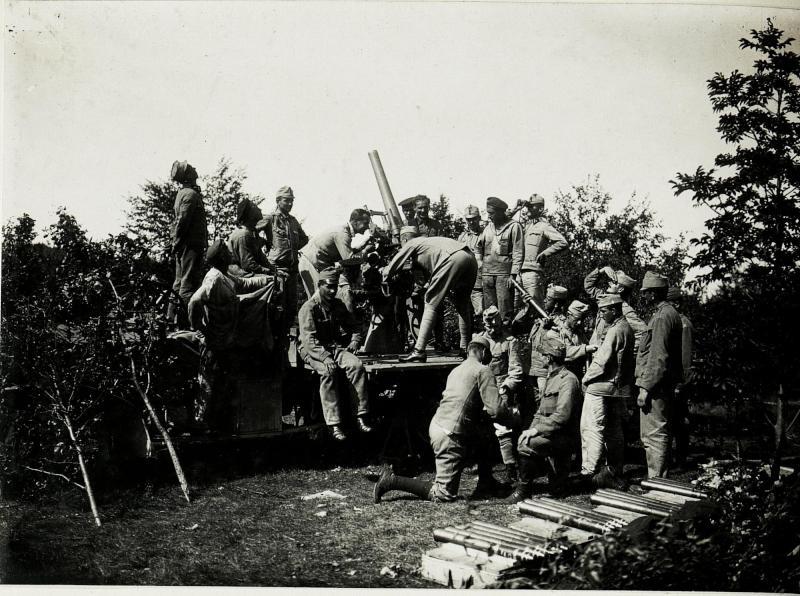 Abwehrkanone bei Selo.