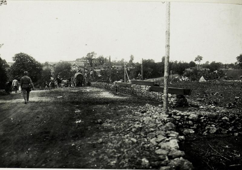 Bau der Wasserleitung in die Stellungen am Isonzo.