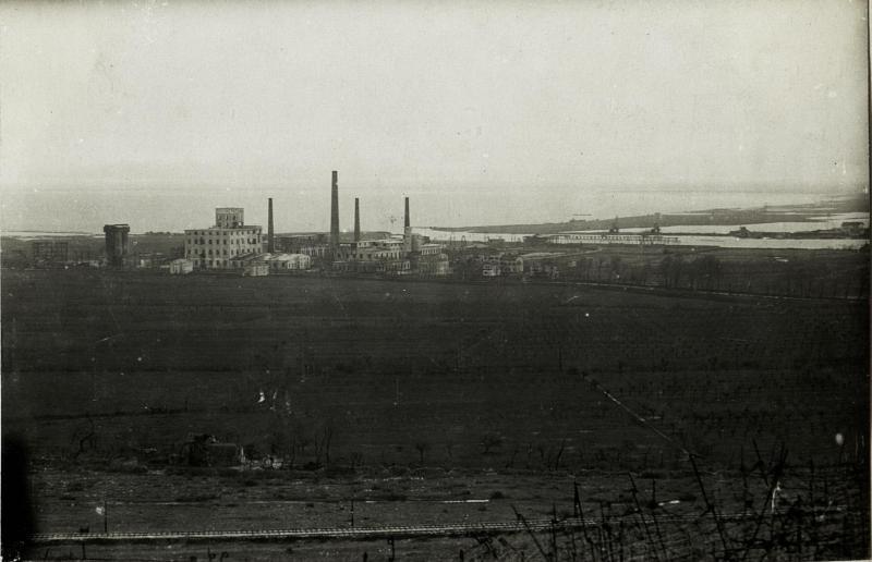 Adriawerke mit feindlichen Schützengräben, 16.3.1916.