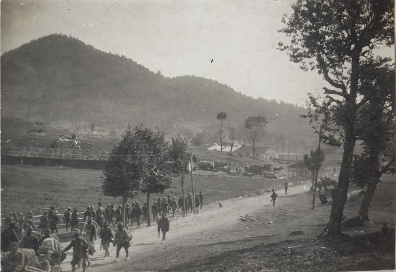 Gefangene Italiener a.d.XI.Isonzoschlacht bei Lokve22.8.17.