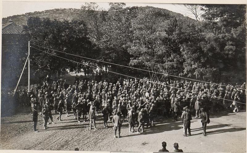 Gefangene Italiener aus der XI.Isonzoschlacht in Sesana.20.8.17.