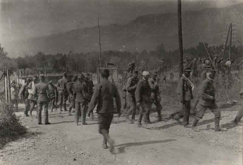 Ankunft Verwundeter in Wippach